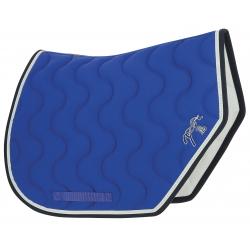 Tapis Pénélope Sport bleu roi point sellier blanc