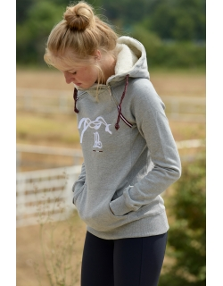 Sweat double zip - gris -...