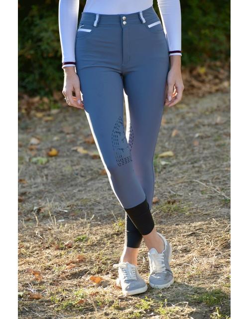 pantalon d'équitation bleu vintage Pénélope Leprevost