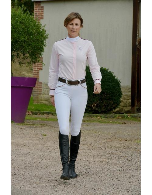 chemise de concours rose et blanche Pénélope-store
