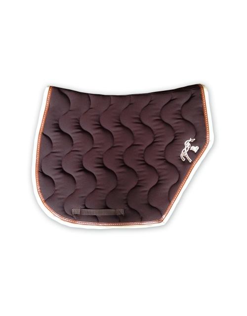 tapis de selle sport chocolat crème Pénélope.