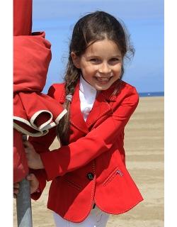 veste de concours light rouge enfant Pénélope