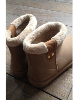 Stuffed Boots - Cream