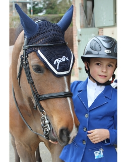 Point Sellier Fly veil Navy & White - Pénélope-store