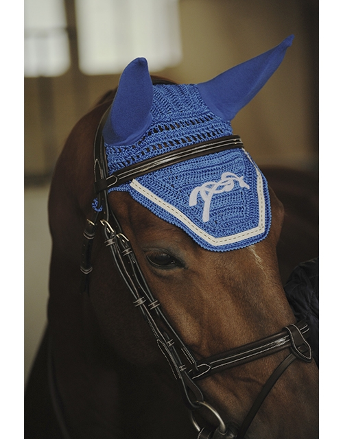 Point Sellier Fly veil - Royal blue & White