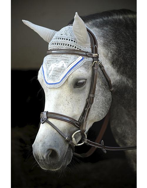 Bonnet Point Sellier - Gris & Bleu Roi