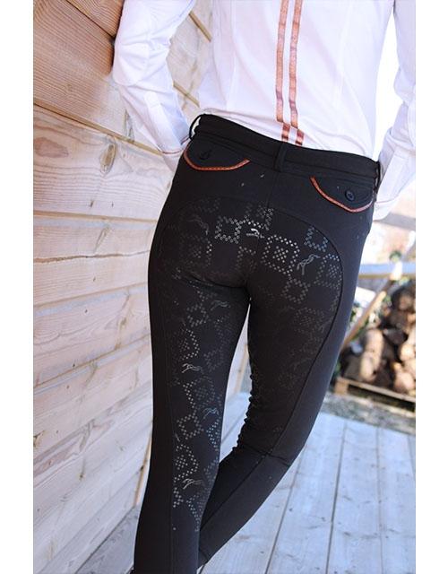 pantalon d'équitation de dressage noir point sellier Pénélope.