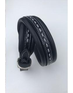 collier pour chien en cuir noir Pénélope-Store
