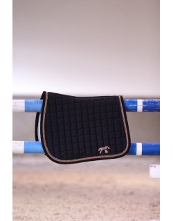 Strass Saddle pad - Black &...