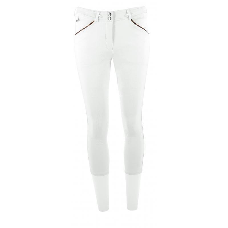Pantalon d'équitation point sellier blanc