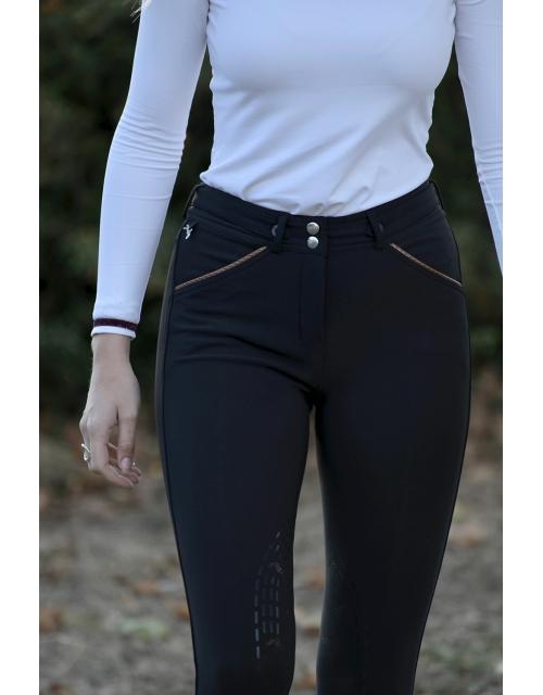 pantalon d'équitation noir point sellier Pénélope