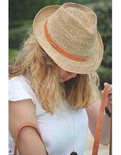 Chapeau tressé Anne - Crème