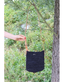 Camille woven bag - Black