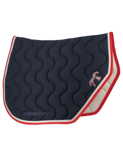 Point Sellier Sport Saddle pad - Navy blue & red