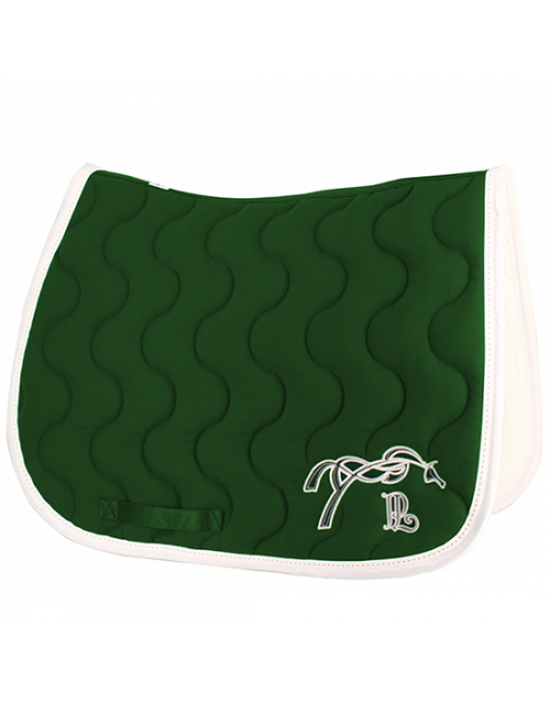 Point Sellier Classic Saddle pad - Dark green & white