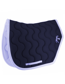 Sport point sellier saddle pad - Navy & white