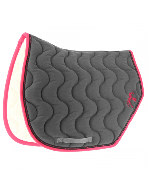 Point Sellier Sport Saddle pad - Grey & Fuchsia