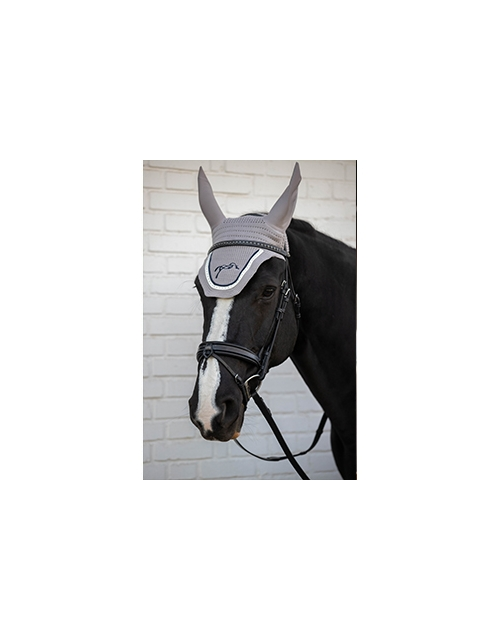 Point Sellier fly veil - Light grey & navy
