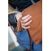 Pénélope thin pocket medium - Brandy