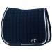 Strass Saddle pad - Navy and white