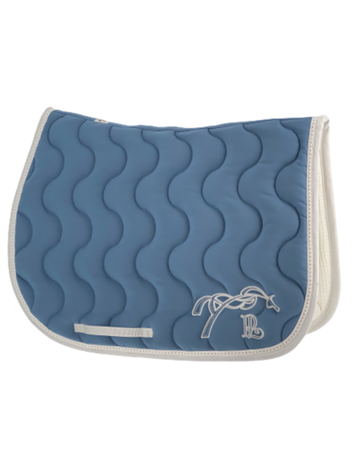 Classic point sellier saddle pad - Lagoon blue & White