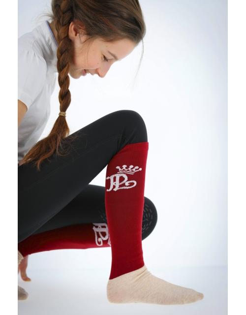 Show high knee socks Pénélope - Red Pénélope-store