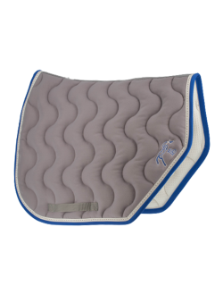 Grey and blue Point Sellier Saddle pad - Pénélope-Store