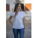 Harlem T-shirt - White & grey - Pénélope-store