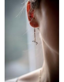 Boucles d'oreilles breloque Diane