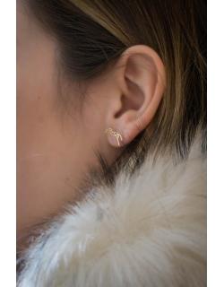 Boucles d'oreilles Or à clous Quimbaya