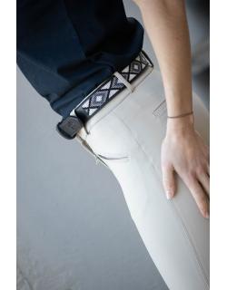 Pearl belt - Black & white