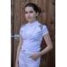 Polo de concours Venise Blanc & taupe - Junior