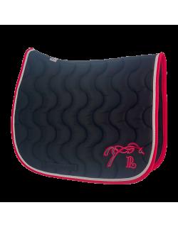 Point sellier classic saddle pad - Black & fuchsia