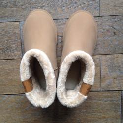 Boots fourrées - crème